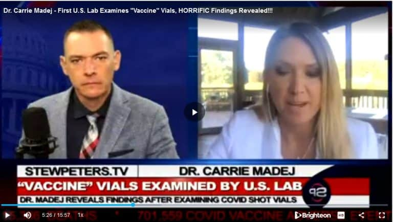 """Dr. Carrie Madej – First U.S. Lab Examines """"Vaccine"""" Vials, HORRIFIC Findings Revealed!!!"""